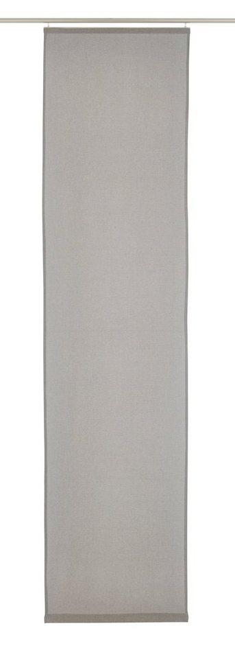 Schiebegardine, Elbersdrucke, »LINO« (1 Stück ohne Zubehör) in grau