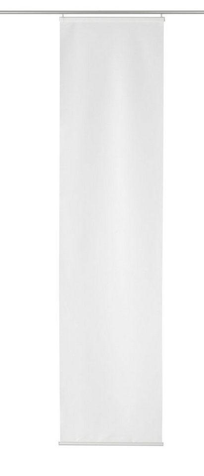 Schiebegardine, Home wohnideen, »Bentwisch«, mit Klettband (1 Stück mit Zubehör) in weiß