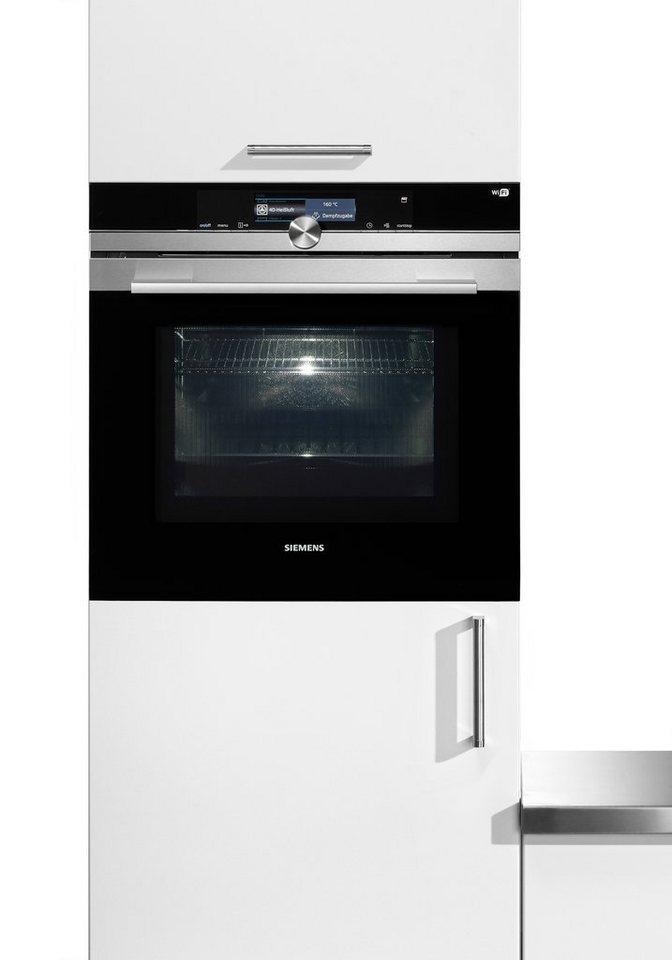 """Siemens iQ700-Mikrowellen-Backofen mit Dampfunterstützung, Pyrolyse & HomeConnect """"HN678G4"""" in Edelstahl"""