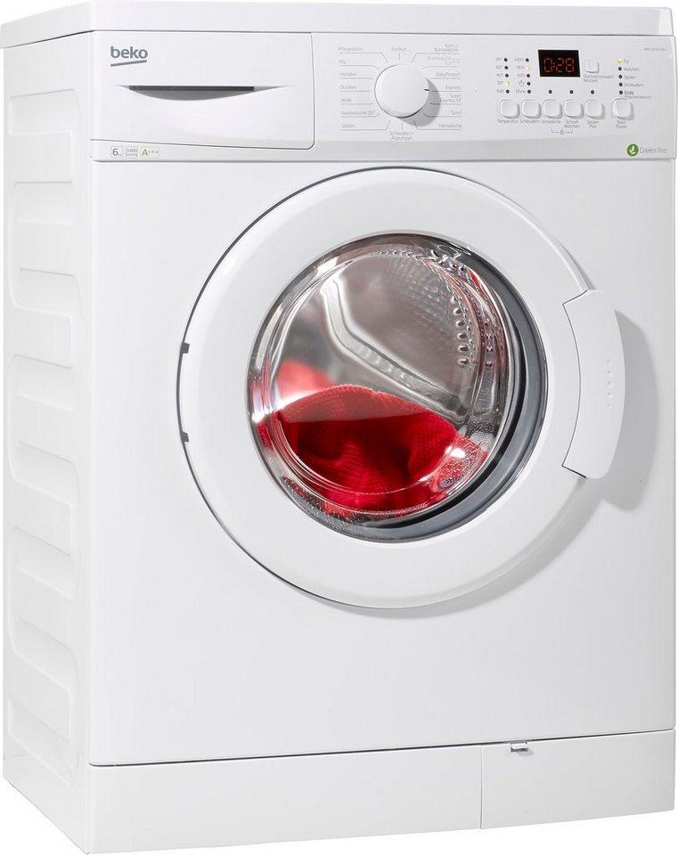 BEKO Waschmaschine WMO 620, A+++, 6 kg, 1400 U/Min in weiß