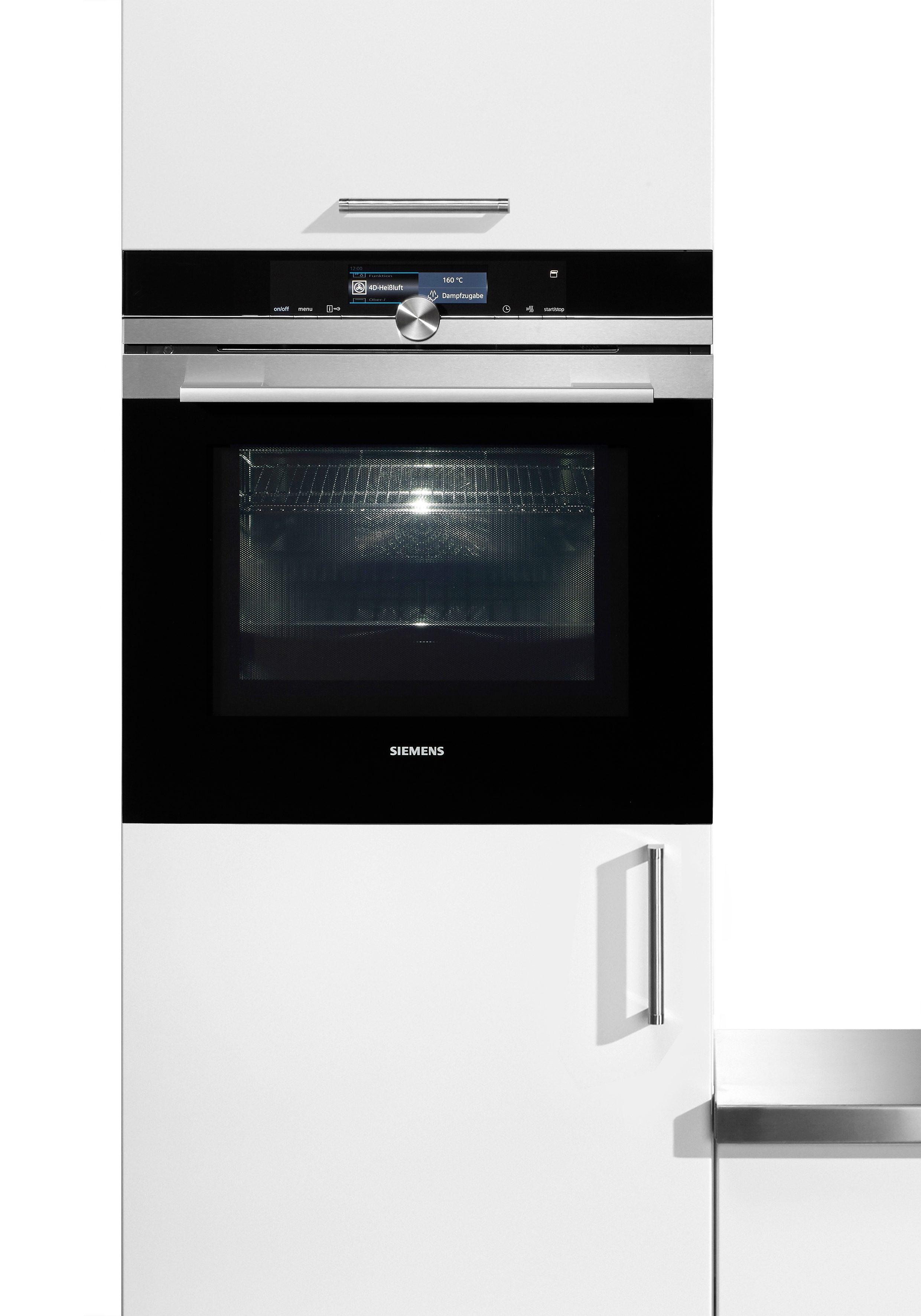 """Siemens Backofen mit Mikrowelle und Pyrolyse-Selbstreinigung iQ700 """"HM678G4S1"""""""