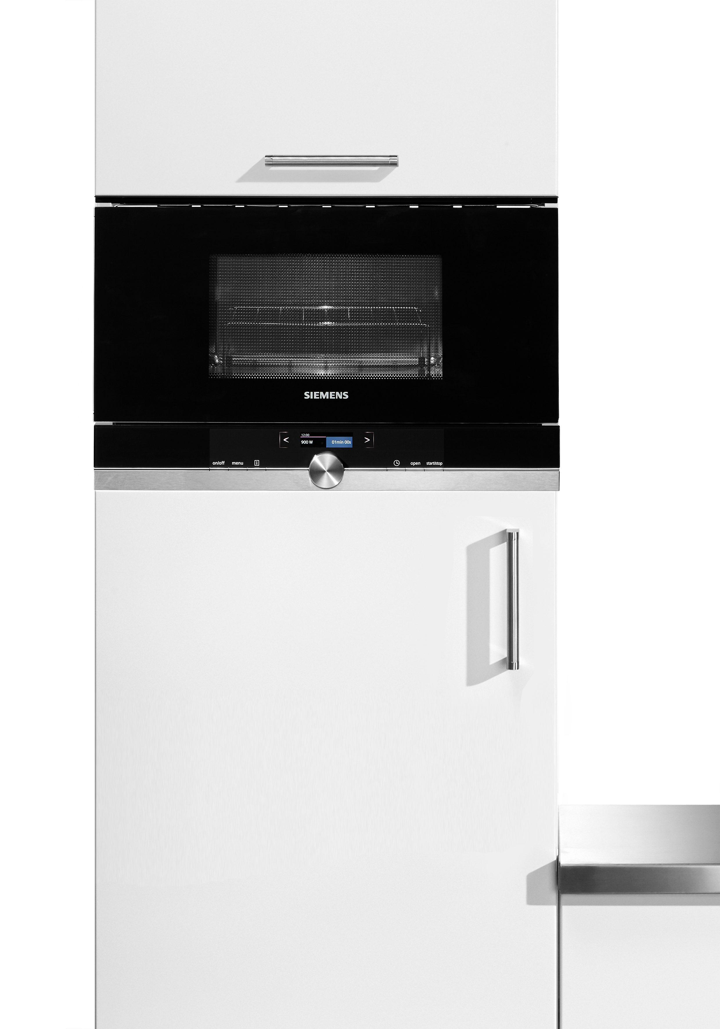 "Siemens Einbaumikrowelle iQ700 ""BE634LGS1"", mit Grill, 21 Liter, 900 Watt"