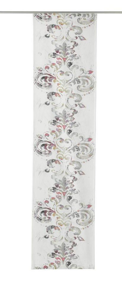 Schiebegardine, Gardisette, »Mala«, mit Klettband (1 Stück) in lila