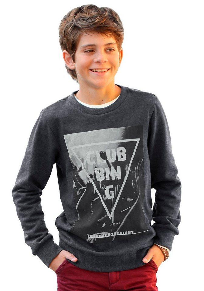 H.I.S Sweatshirt mit großem Fotodruck in anthrazit-meliert