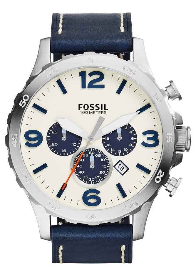 Fossil Chronograph »NATE, JR1480« in blau
