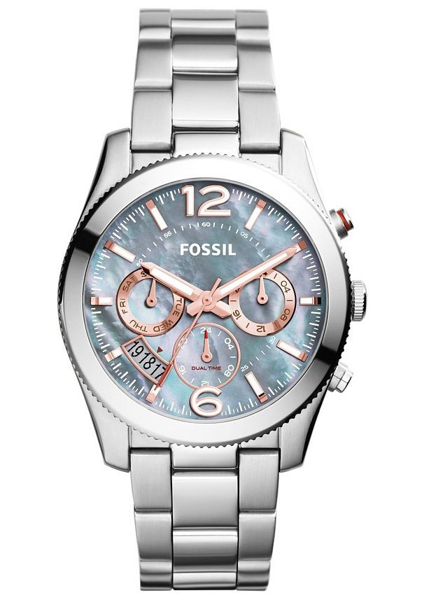 Fossil Multifunktionsuhr »PERFECT BOYFRIEND, ES3880« in silberfarben