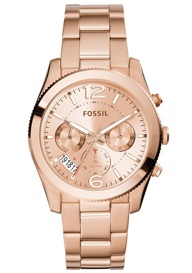 """Fossil, Multifunktionsuhr, """"PERFECT BOYFRIEND, ES3885"""" in roségoldfarben"""