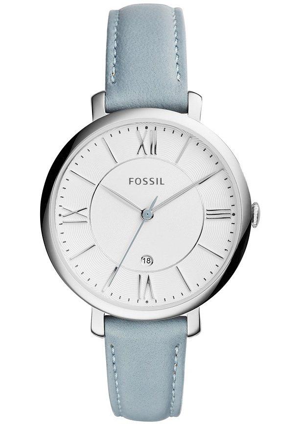 """Fossil, Armbanduhr, """"JACQUELINE, ES3821"""" in graublau"""