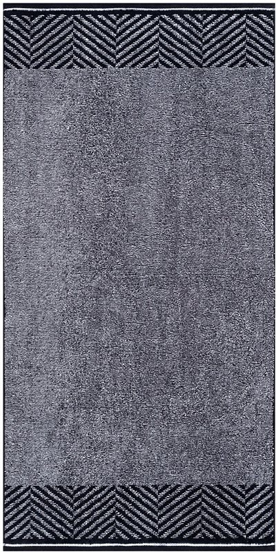 Badetuch, Egeria, »Stagger«, mit diagonalen Streifen in anthrazit