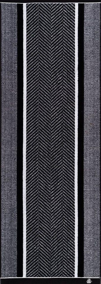Saunatuch, Egeria, »Stagger«, mit diagonalen Streifen in anthrazit