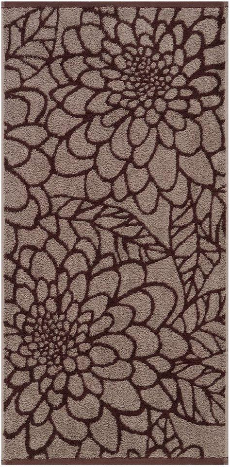 Handtücher, Egeria, »Flora«, große Blütenornamente in braun