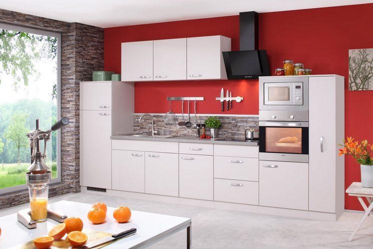 Küchenzeile mit E-Geräten »Kansas«, Breite 360 cm