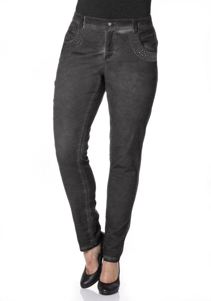 sheego Style Stretch-Hose »Die Schmale« in dunkelgrau