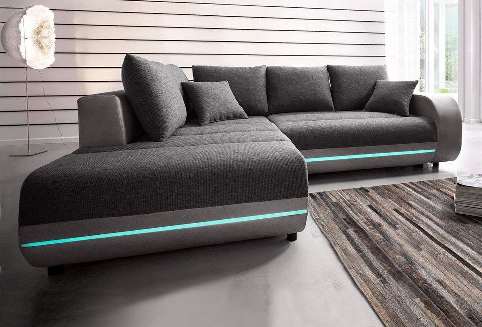 Ecksofa mit led led fuss mbelfuss sockelfuss sofa couch for Ecksofa im angebot