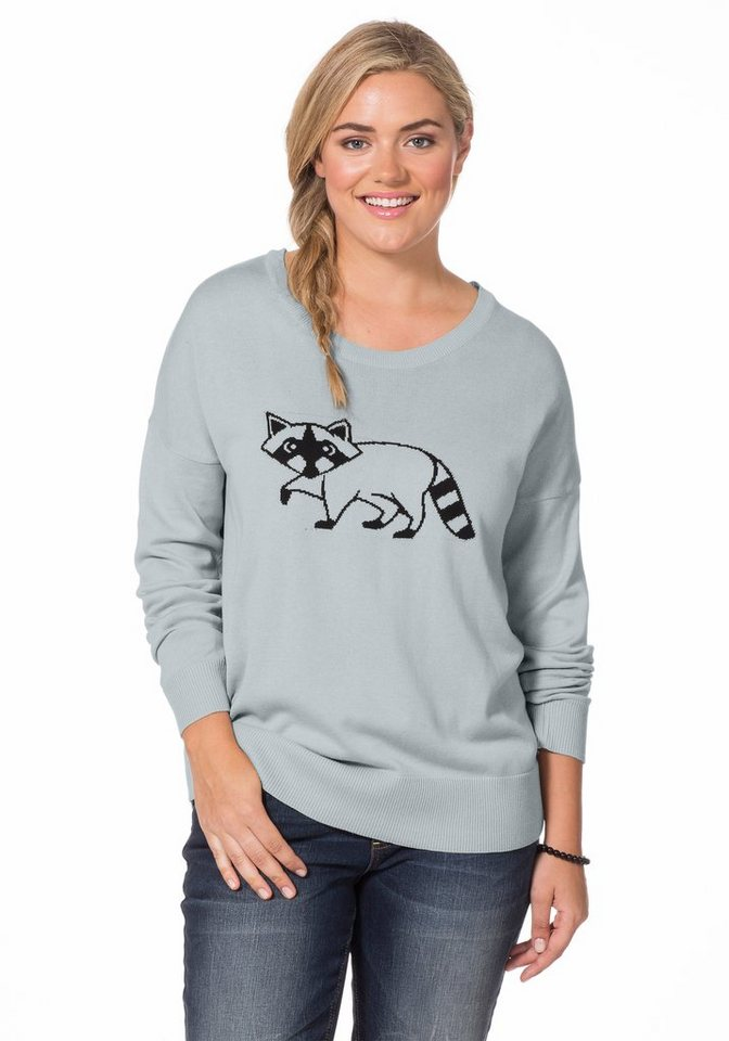 sheego Casual Pullover in silbergrau