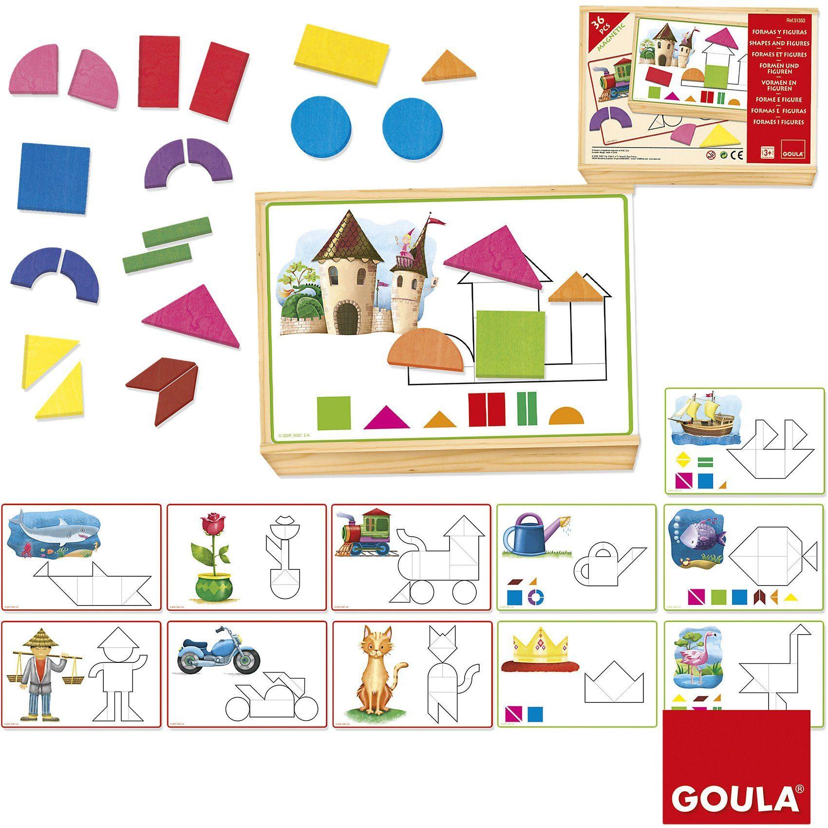 Goula Magnet-Legespiel Formen und Figuren