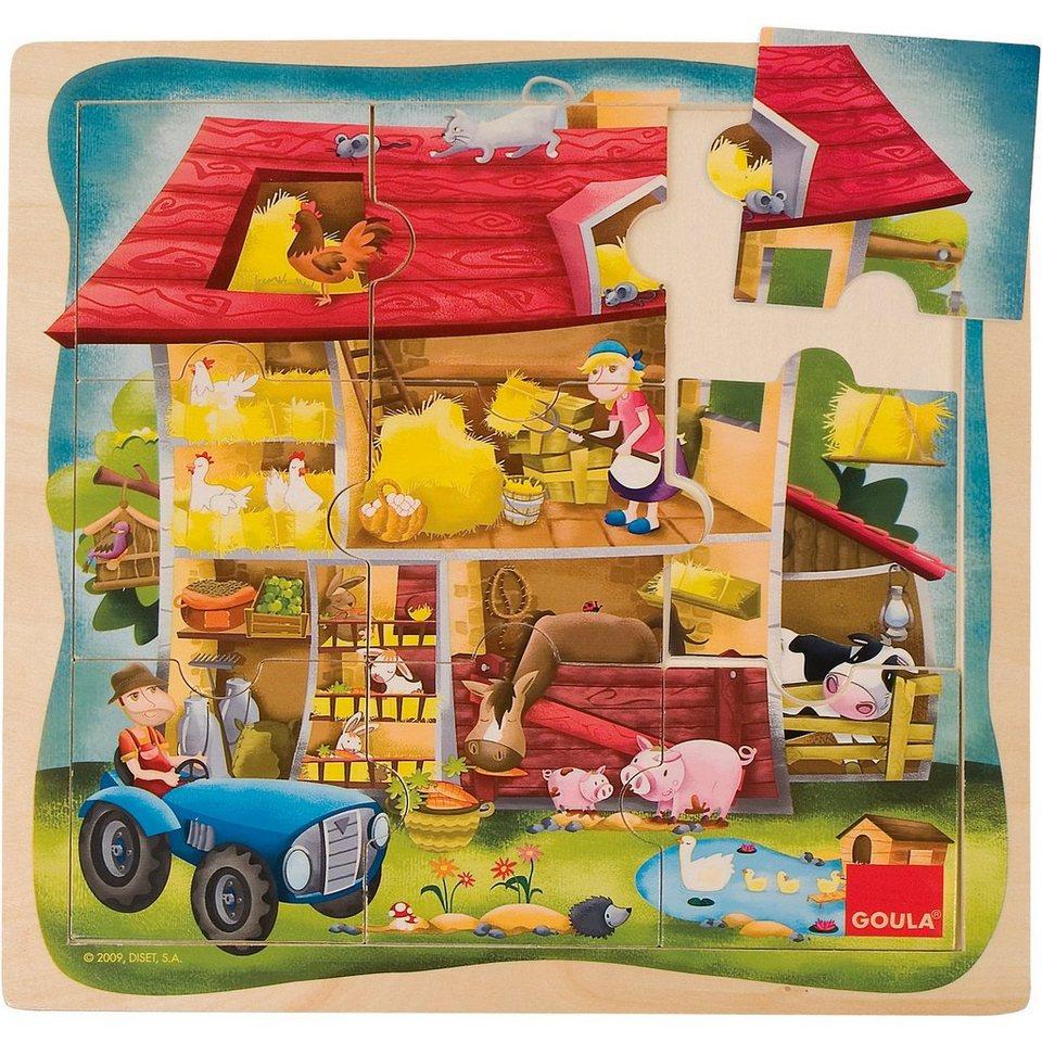 Goula Holzpuzzle Bauernhof online kaufen