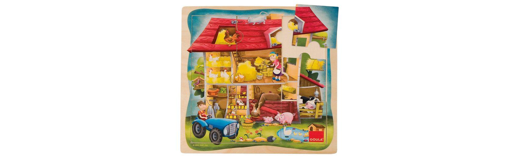 Goula Holzpuzzle Bauernhof