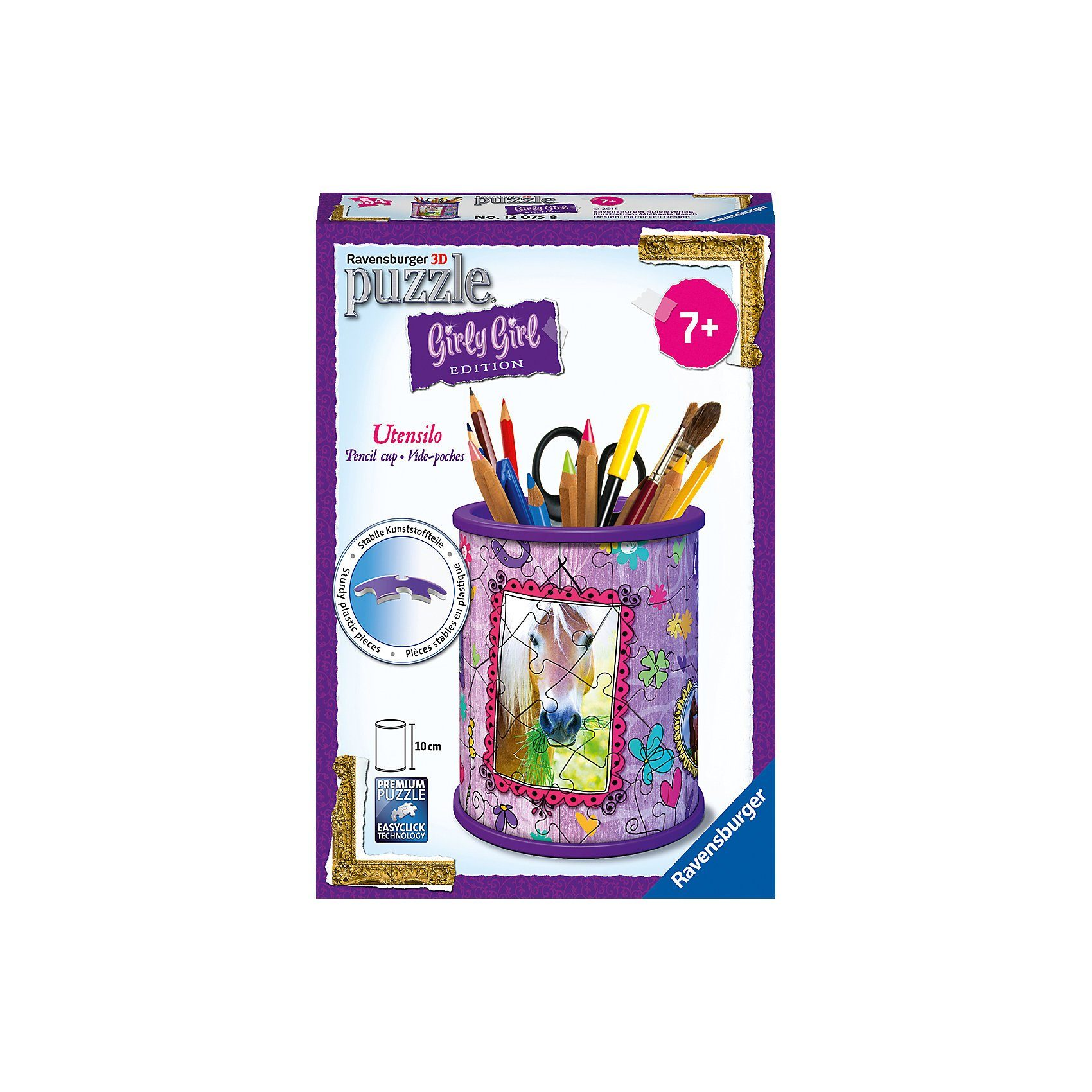 Ravensburger Girly Girl Edition Utensilo/Stiftebox Pferde