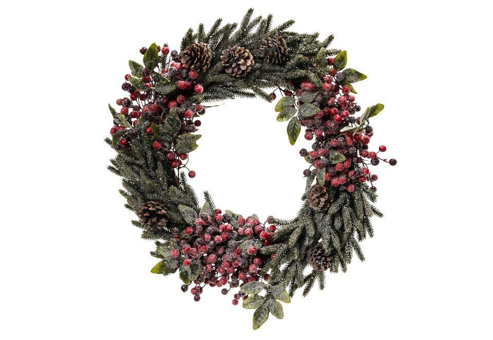 Mailord Collection Deko-Kranz, »Winterbeere« in grün gefrostet mit roten Beeren
