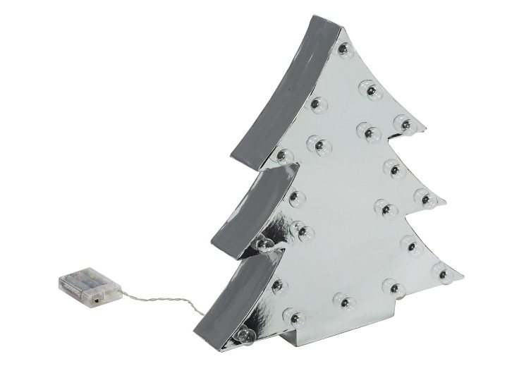 Mailord Collection Beleuchtetes LED-Deko-Objekt in silberfarben