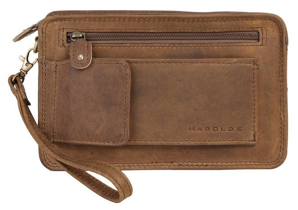 Harold's Leder Handgelenk Tasche »Antik« in braun