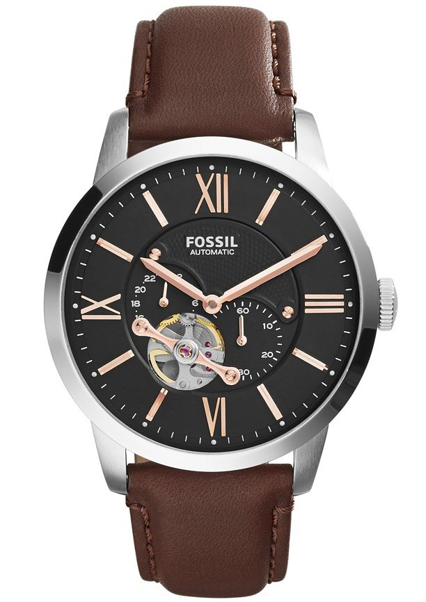 "Fossil, Automatikuhr, ""STELLA, ME3061"" in dunkelbraun"