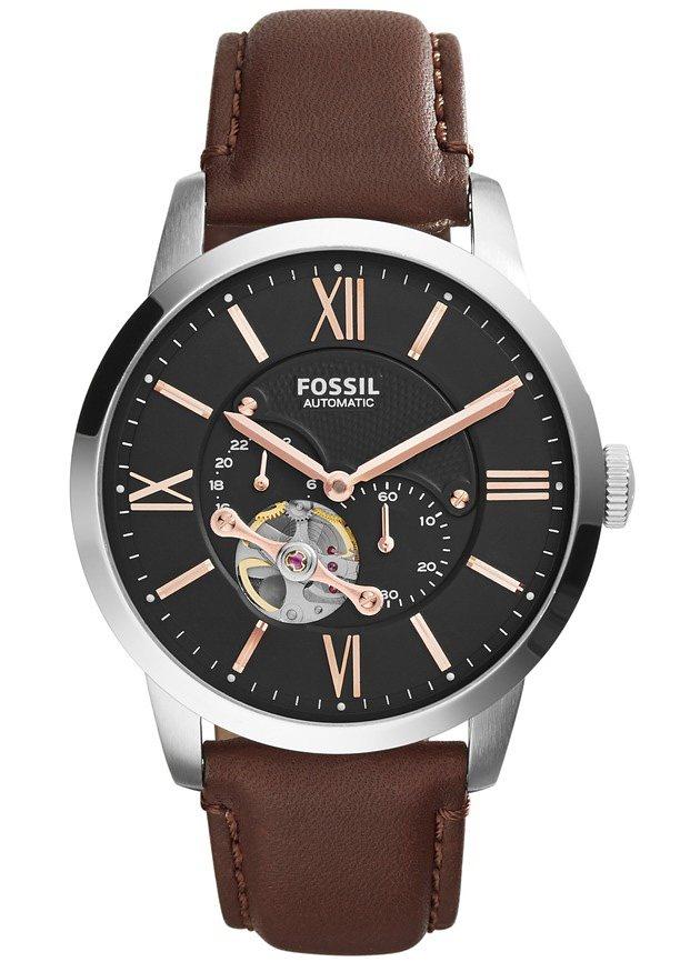 Fossil Automatikuhr »STELLA, ME3061« kleine Sekunde in dunkelbraun