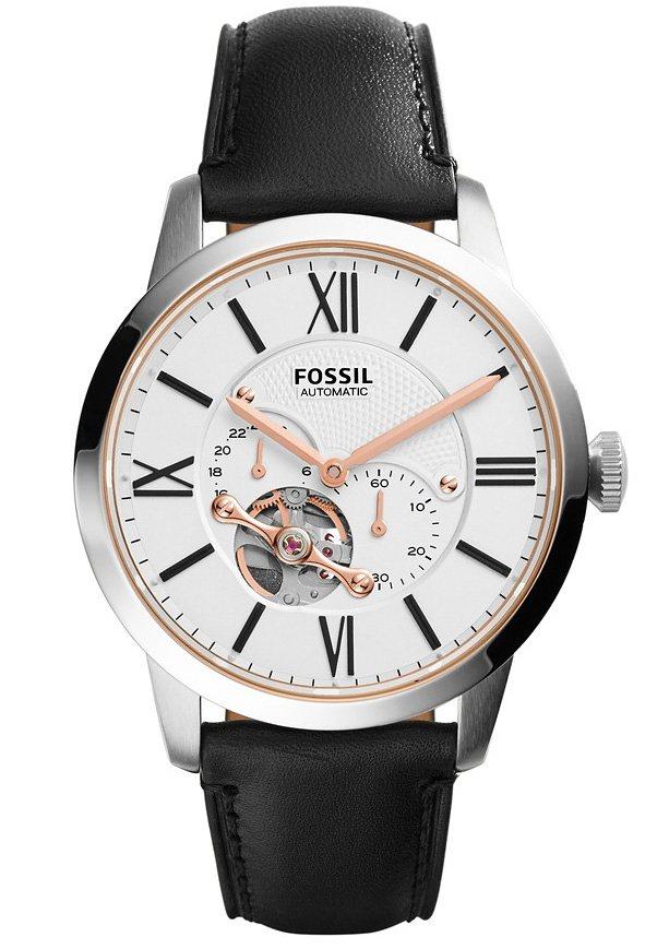 Fossil Automatikuhr »TOWNSMAN, ME3104« kleine Sekunde in schwarz