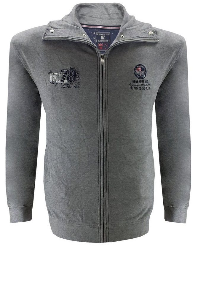 redfield Sweatjacke in Grau Melange