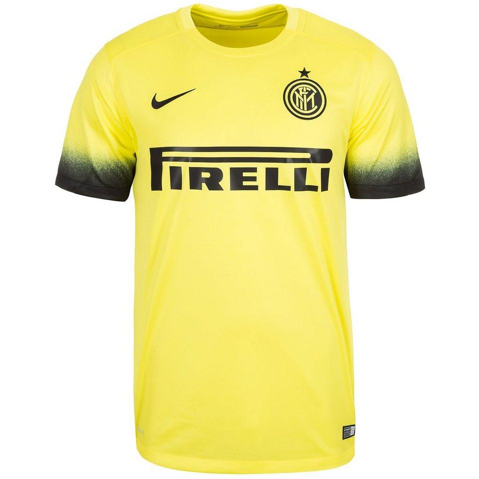 NIKE Inter Mailand Trikot 3rd Stadium 2015/2016 Herren in gelb / schwarz