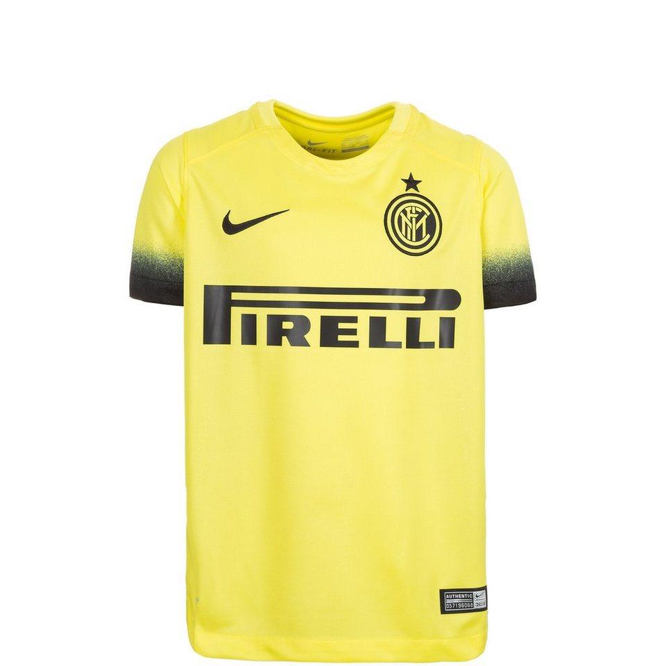 NIKE Inter Mailand Trikot 3rd Stadium 2015/2016 Kinder in gelb / schwarz