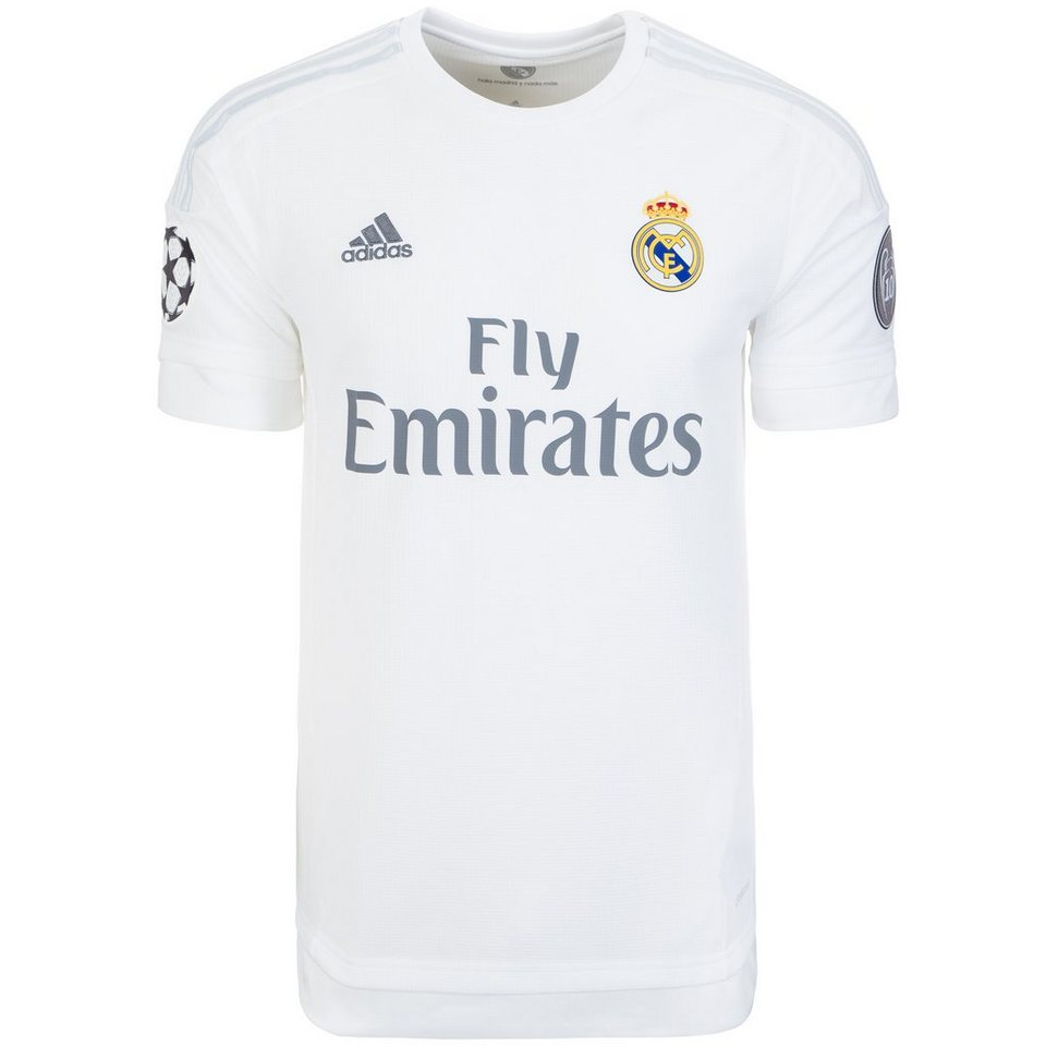 adidas Performance Real Madrid Trikot Home Champions League 2015/2016 Herren in weiß / hellgrau