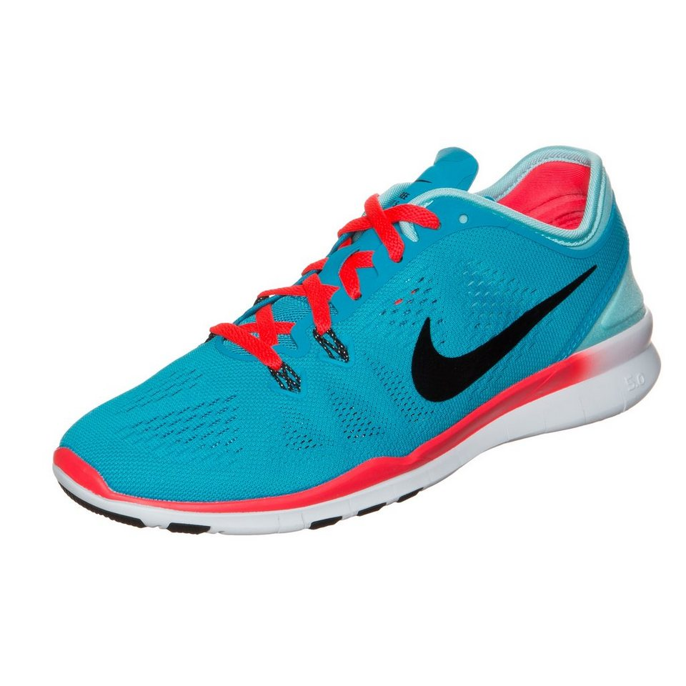 NIKE Free 5.0 TR Fit 5 Trainingsschuh Damen in blau / rot / weiß