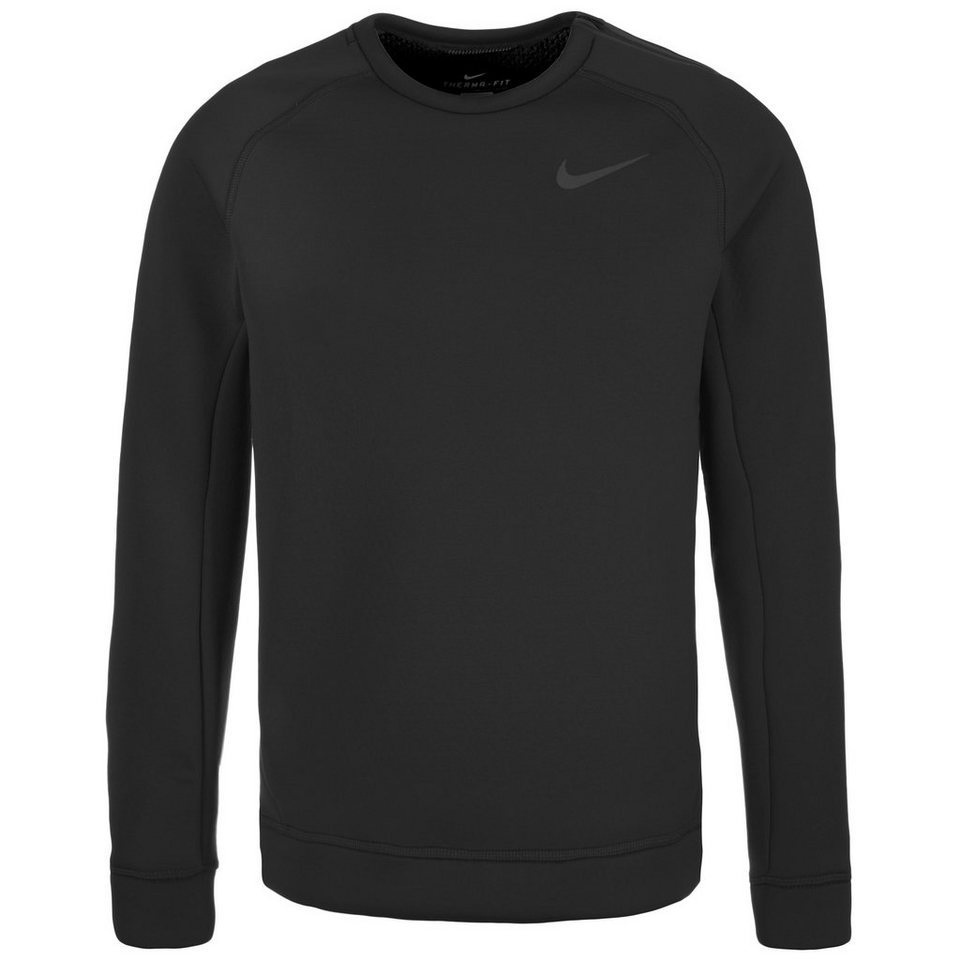 NIKE Thermasphere Max Crew Trainingssweat Herren in schwarz