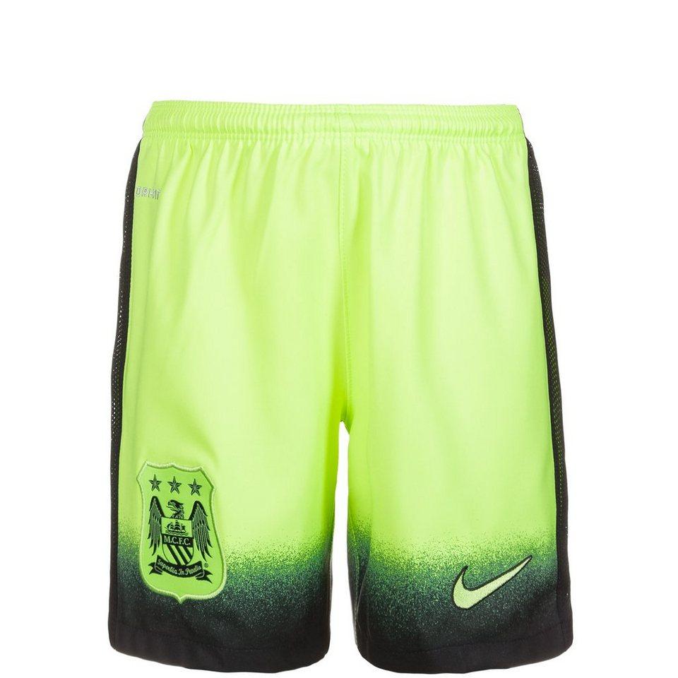 NIKE Manchester City Short 3rd 2015/2016 Kinder in lime / schwarz