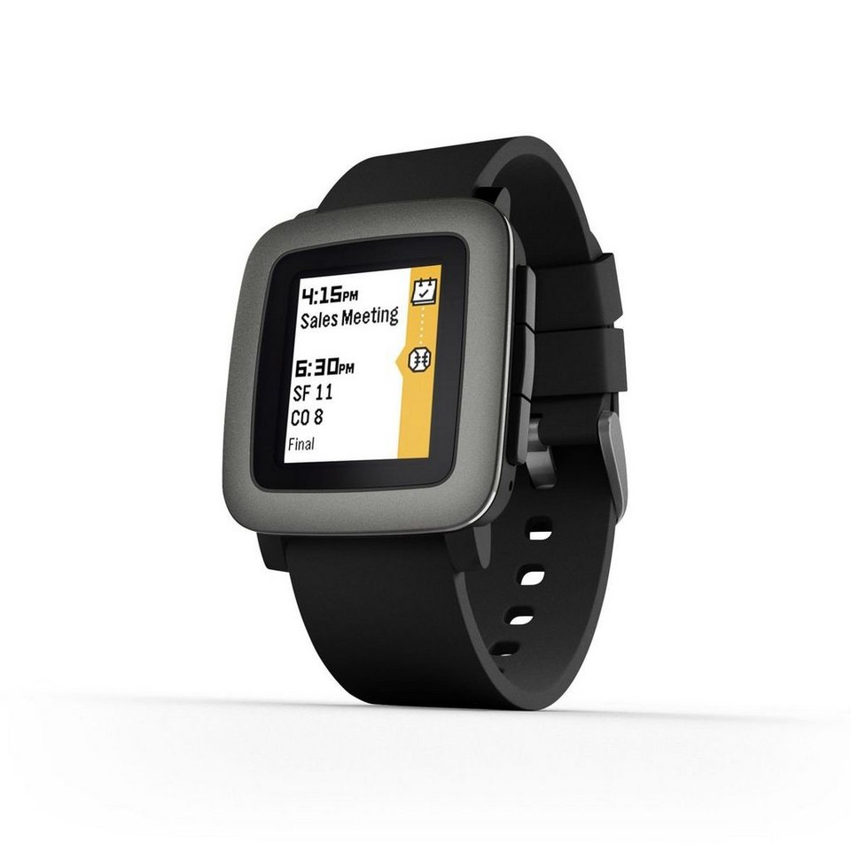 Pebble Smartwatch »Time Smart Watch« in Schwarz