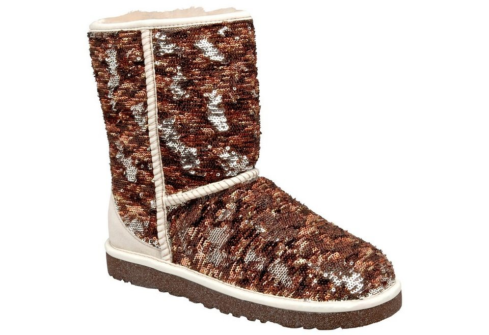 UGG Stiefel »Classic Short Sparkles« in champagner