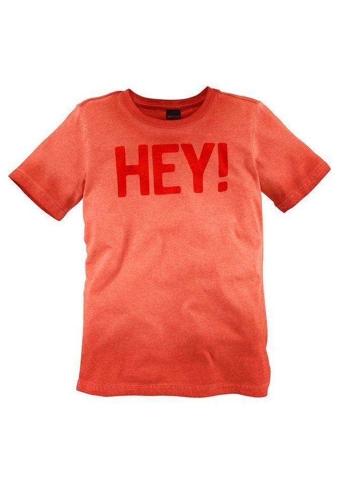 arizona t shirt im washed out look mit druck hey. Black Bedroom Furniture Sets. Home Design Ideas
