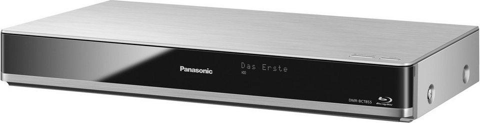 Panasonic DMR-BST855EG Blu-ray-Recorder, 3D-fähig, 4K (Ultra-HD), 1000 GB, WLAN in silberfarben