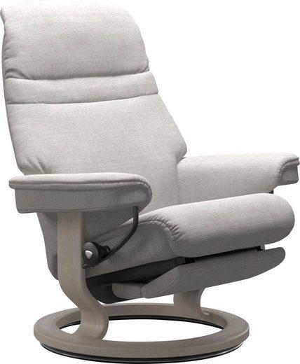 Stressless® Relaxsessel »Sunrise«, mit Classic Base und Power™, elektrisch verstellbar, optional 2-motorisch, Größe M & L, Gestell Whitewash