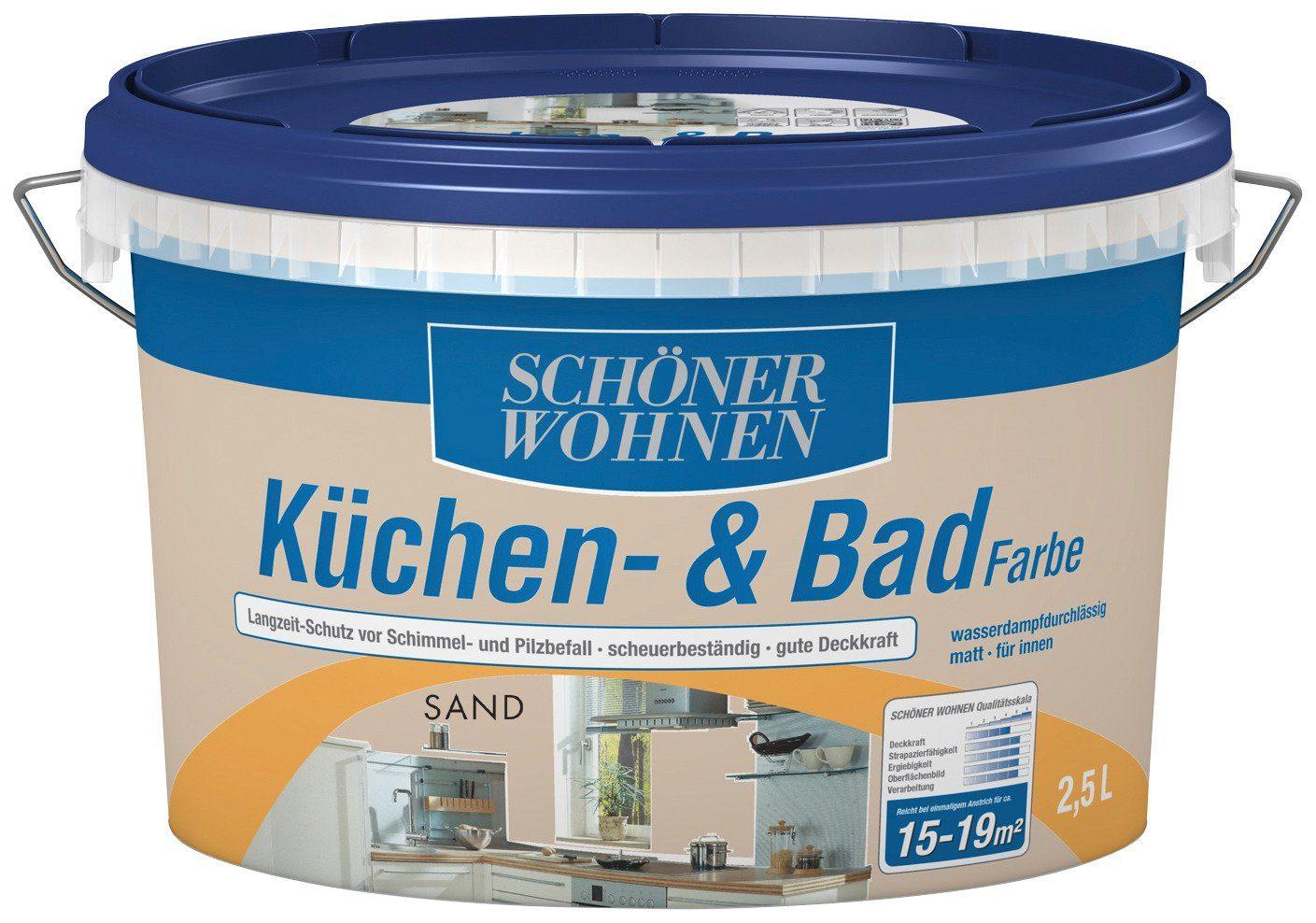 Schöner Wohnen Farbe Küchen- & Badfarbe, sand