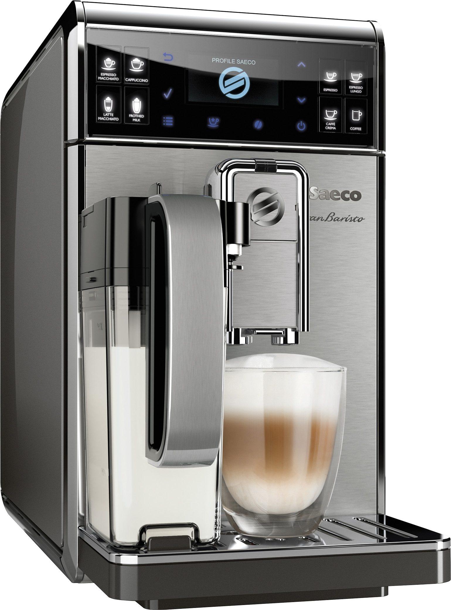Saeco Kaffeevollautomat HD8975/01 GranBaristo, integrierter Milchtank