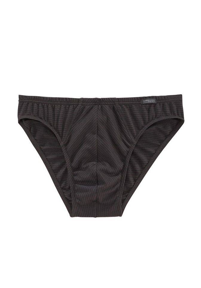 Ammann Mini-Slip »Modern«, mit feiner Ringeloptik in schwarz