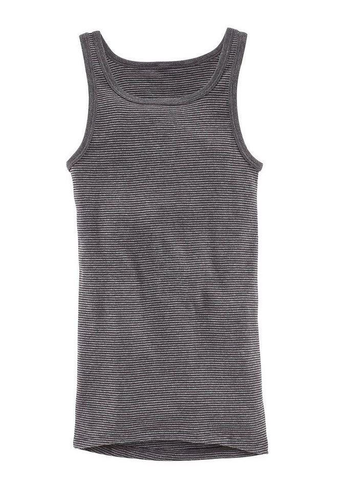 Ammann Unterhemd »Jeans«, sportlich-klassischer Schnitt, in Ringeloptik, pflegeleichte Qualität in anthrazit