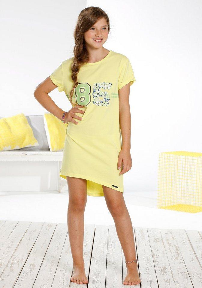 Skiny Sleepshirt »Spring Blossom Sleep«, for girls in lemon juice