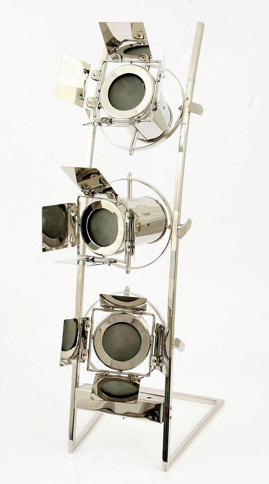 Sit Standlampe 3 flammig, ohne Leuchtmittel in Aluminium/ Stahl