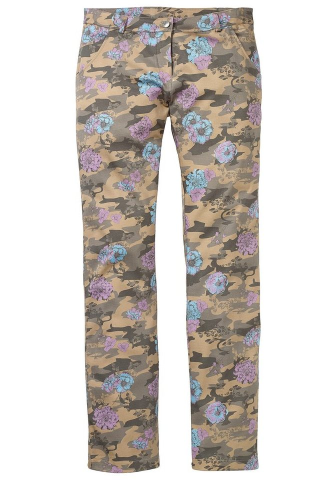 sheego Casual Hose in oliv allover