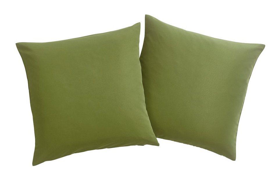 Kissenhüllen, my home, »Raja« (2 Stück) in grün