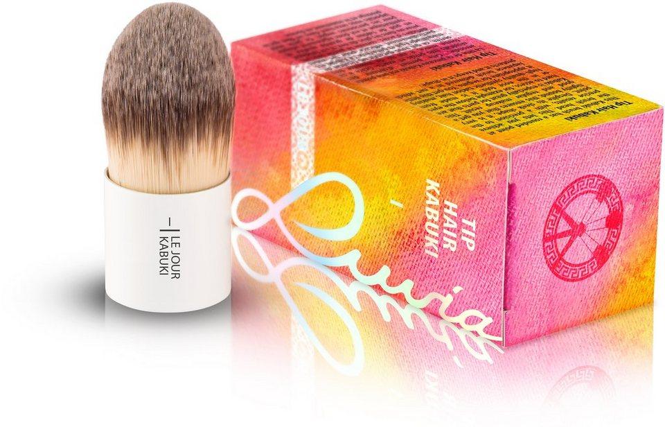 Luvia Cosmetics, »Le Jour - I Tip Hair Kabuki«, Veganer Kabuki Kosmetikpinsel in Weiß
